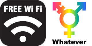 free WiFi, advocating gender diversity!